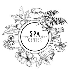 Design for spa and beauty salon vector