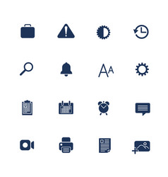 Different icons for mobile apps sites programs vector