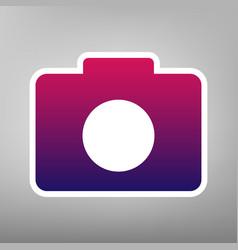 digital camera sign purple gradient icon vector image