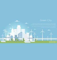 eco city concept big vector image