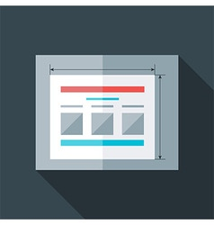 Flat stylized prototyping website vector