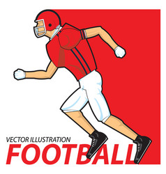 Football player running vector