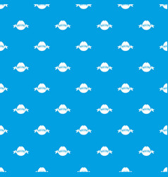 fresh citrus pattern seamless blue vector image