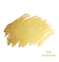 Gold paint smear stroke stain set abstract vector