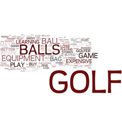 Golf stuff to keep in your bag text background vector
