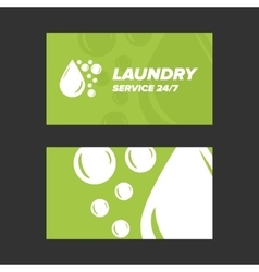Green Laundry Service Business card vector