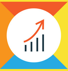 Growing stats colorful outline symbol premium vector