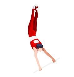 Gymnastics High Bar 2016 Sports 3D vector image