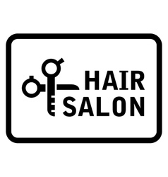 Hair salon icon vector