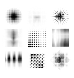Halftone patterns vector