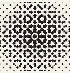 Halftone seamless geometric pattern monochrome vector