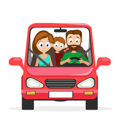 happy young family husband wife and daughter are vector image