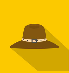 Hat icon flat style vector