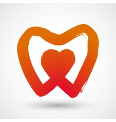 Heart with tooth symbol vector