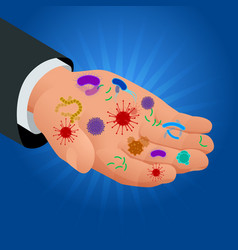 isometric micro-organisms disease-causing objects vector image