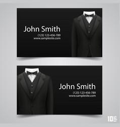 Jacket business card vector