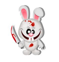 Mad bunny halloween vector