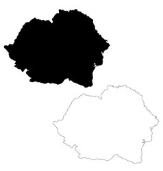 Map romania isolated black vector
