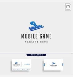 Mobile phone game logo design template concept vector