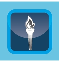 Olympic torch design vector