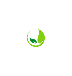 Organic green leaf nature business logo vector