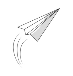 paper plane message icon image vector image