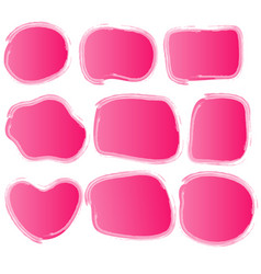 pink watercolor picture borders vector image