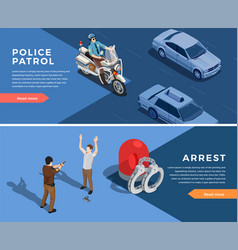 police banners set vector image