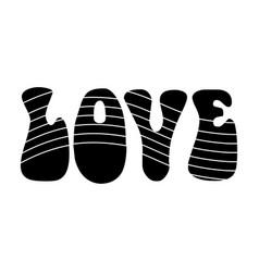 Rainbow inscription of the word lovehippy single vector