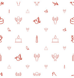 Religion icons pattern seamless white background vector