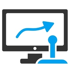 Remote Monitoring Icon vector image