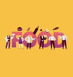 restaurant food waitress character banner vector image