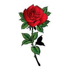 Rose flower red cartoon 01 vector