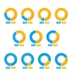 round schedule vector image