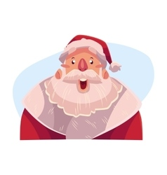 Santa claus face surprised facial expression vector