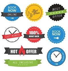 Set labels and badges for hotels vector