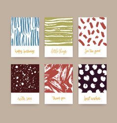 set of card templates decorated with hand drawn vector image