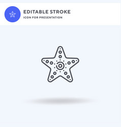 Starfish icon filled flat sign solid vector