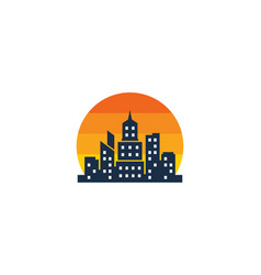 Sun town logo icon design vector