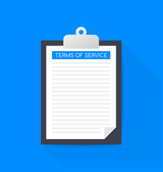 Terms service document icon top view terms of vector