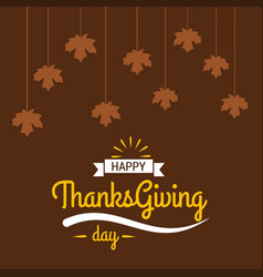thanksgiving day poster beautiful typography in vector image