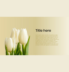 tulips poster with text sample vector image