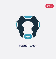 Two color boxing helmet icon from security vector