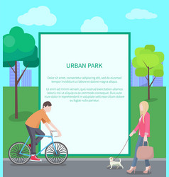 Urban park card colorful vector