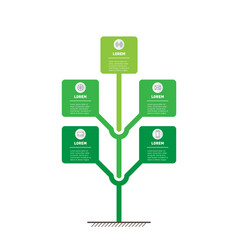 Vertical infographics or timeline with 5 five vector