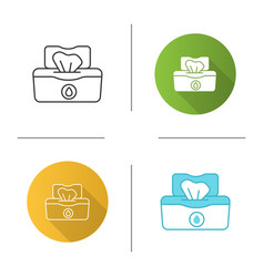 Wet wipes pack icon vector