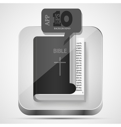 Bible app icon vector image