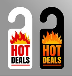 Hot price labels vector image vector image