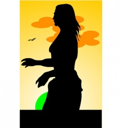 silhouette vector image vector image