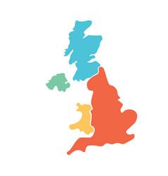 united kingdom aka uk of great britain and vector image